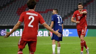 Robert Lewandowski anotó el cuarto gol tras un centro de Álvaro Odriozola.