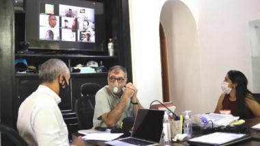 El alcalde William Dau durante la sesión virtual con la Comisión Tercera del Senado.