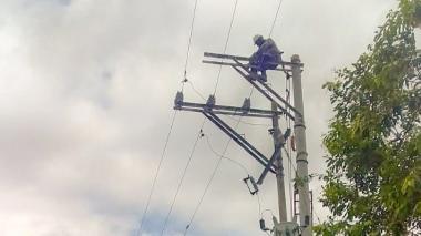Lluvias causan daño en sistema de fluido eléctrico en Montería