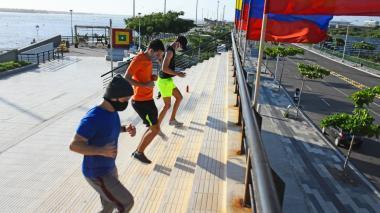 Barranquilleros volvieron al Gran Malecón para ejercitarse