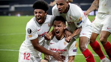 Ocampos rescata al Sevilla en la Liga de Europa