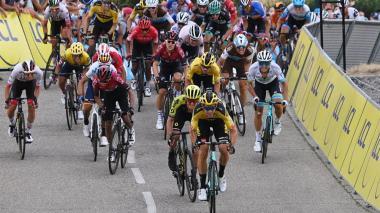 Tramo final de la primera etapa del Critérium del Dauphine, donde Egan Bernal fue el mejor colombiano.