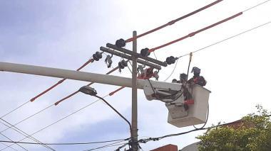 Arrancan obras eléctricas en cuatro barrios de Barranquilla