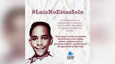 #LuisNoEstásSolo, solidaridad en redes con joven gay al que cortaron su brazo