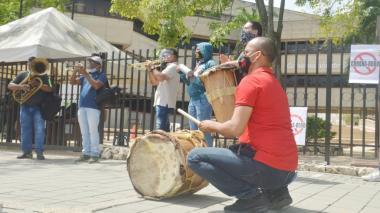 Artistas de Sucre se hacen sentir una vez más para reclamar subsidios