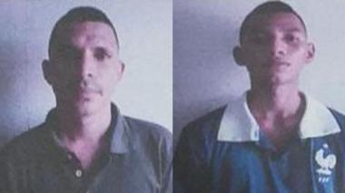 Jimmy David Bellido Romero y Jhoider Jama Quejada, dos de los reclusos implicados en el intento de fuga.