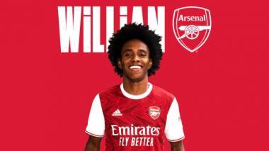 El Arsenal anunció este viernes la contratación del extremo brasileño Willian.