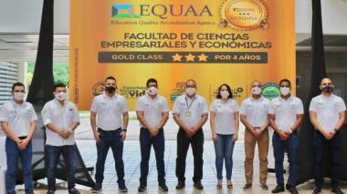 La conferencia de prensa este viernes en la Universidad del Magdalena.