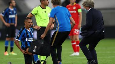 Conte confirmó la baja de Alexis Sánchez en la semifinal de Europa League