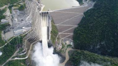 Vista aérea del proyecto Hidroituango de EPM.