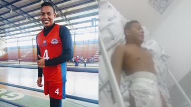 Álvaro antes de sufrir complicaciones de salud y durante su última hospitalización.