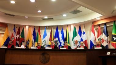 Jueces de la Corte Interamericana de Derechos Humanos, la cual falló a favor del senador Gustavo Petro.
