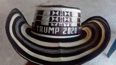 Con sombrero vueltiao, Cabal le hace campaña a Trump