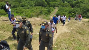 Habitantes de la vereda Caño Negro, en El Carmen de Bolívar,  retornaron con acompañamiento institucional.