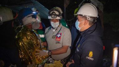 Rescatados tres mineros atrapados hace cinco días en Lenguazaque