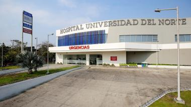 Fachada del Hospital Universidad del Norte.