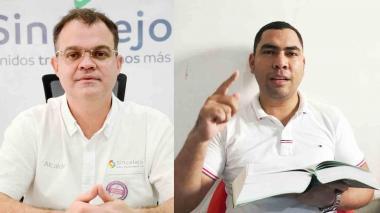 El alcalde de Sincelejo, Andrés Gómez Martínez y el denunciante John Turizo Hernández.