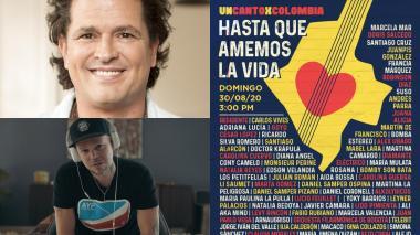 Carlos Vives y René Pérez, puertorriqueño mejor conocido como Residente, dos de los artistas que estarán en la jornada.