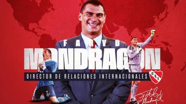 Así presentó Independiente de Avellaneda a Faryd Mondragón.
