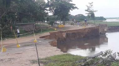 S.O.S. por ruptura de la vía Salamina-El Piñón ante aumento de la erosión