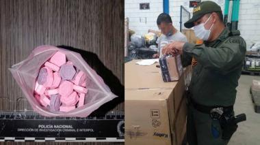 Policía incauta 95 pastillas de anfetamina en una encomienda