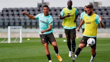 Cristiano Ronaldo es la gran ausencia de Portugal en sus entrenamientos.