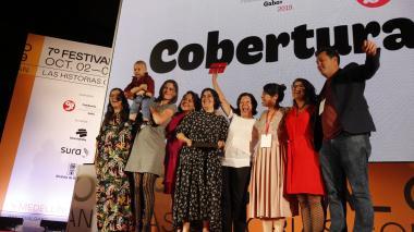 Ganadores en la categoría Cobertura de la edición 2019.