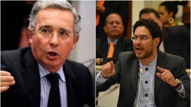 Álvaro Uribe e Iván Cepeda.
