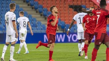 Widmer conquistó el gol del empate definitivo entre Suiza y Alemania en la Liga de Naciones.