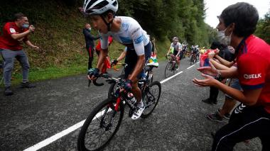 El colombiano Egan Bernal, segunda en la general del Tour de Francia 2020.
