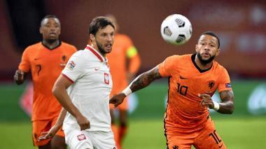 Memphis, con la camiseta número '10' de la selección holandesa.