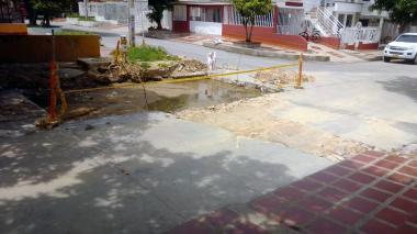 Molestia por trabajos sin terminar en el barrio El Castillo