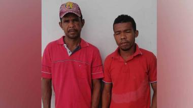 Dávinson Rafael y Sandro David Cueto Mattos, capturados.