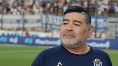Diego Maradona es el actual director técnico de Gimnasia y Esgrima de La Plata.