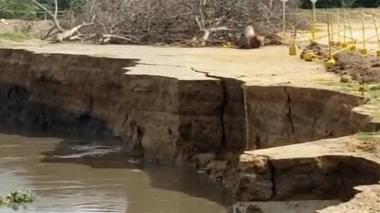 """""""Río y erosión en Salamina siguen creciendo"""""""