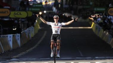 Andersen, sorprende y gana la etapa 14 del Tour; la general no cambió
