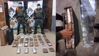 Policía halla encomienda de marihuana en bodega de empresa de envíos