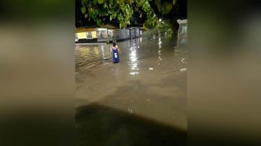 Inundaciones tras aguacero en Ciénaga, Magdalena