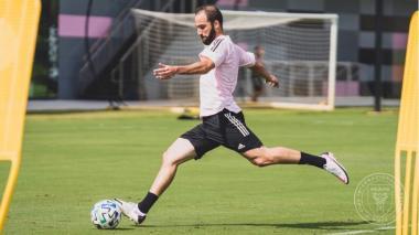 Gonzal Higuaín ya entrenó con su nuevo club de la MLS.