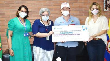 Empresa privada aporta recursos al Hospital Universitario de Sincelejo