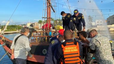 Controlan hundimiento del Galeón Bucanero en la bahía de las Ánimas