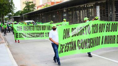 Aspecto de la manifestación del pasado 7 de septiembre.