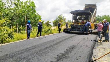 La vía Las Tablitas - San Marcos registra un avance del 8,3%