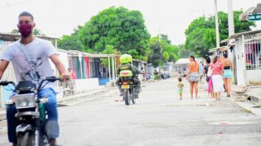 Aspecto de una calle en Malambo.