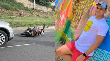 Ciclista murió atropellado por una moto en la Troncal