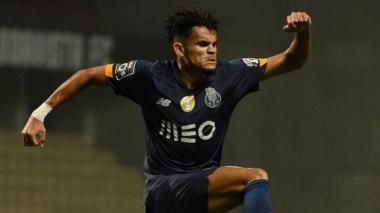 Luis Díaz celebrando su tanto con el FC Porto.