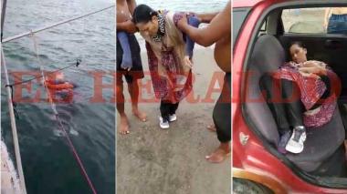 En video | Misterio en Puerto Colombia por mujer encontrada a la deriva