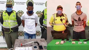 Edwin Jair Cassiani Pedraza y William Jesús Polo Anaya, capturados.