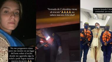 Armada rescató a 14 personas varadas en la Ciénaga Grande