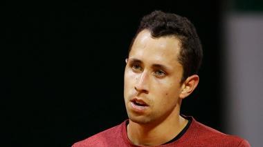 Daniel Galán durante su juego de primera ronda de Roland Garros.